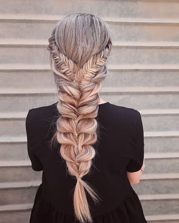 75 of The Hottest Fishtail Braids for Women (2019 Guide)