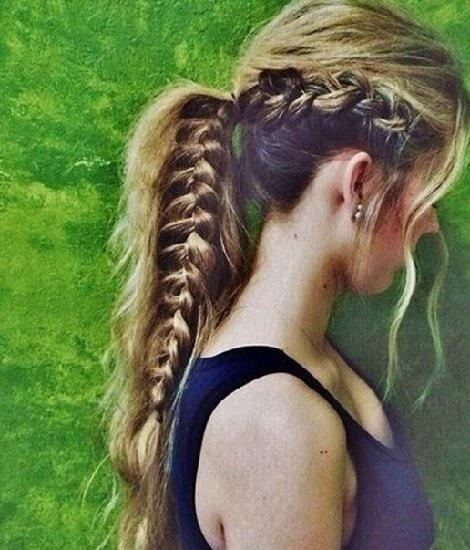 25 Killer French Braid Ponytails You Can T Miss Hairstylecamp