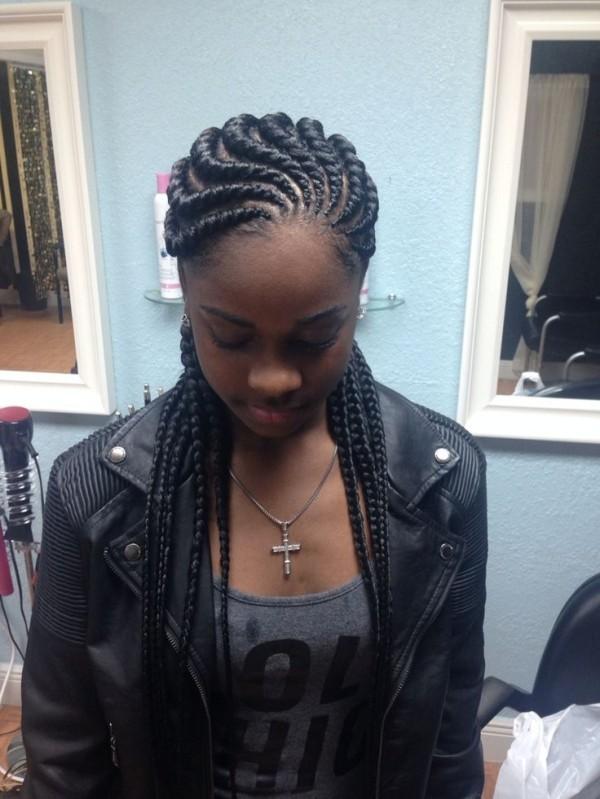little girl Ocean waves ghana braids cut