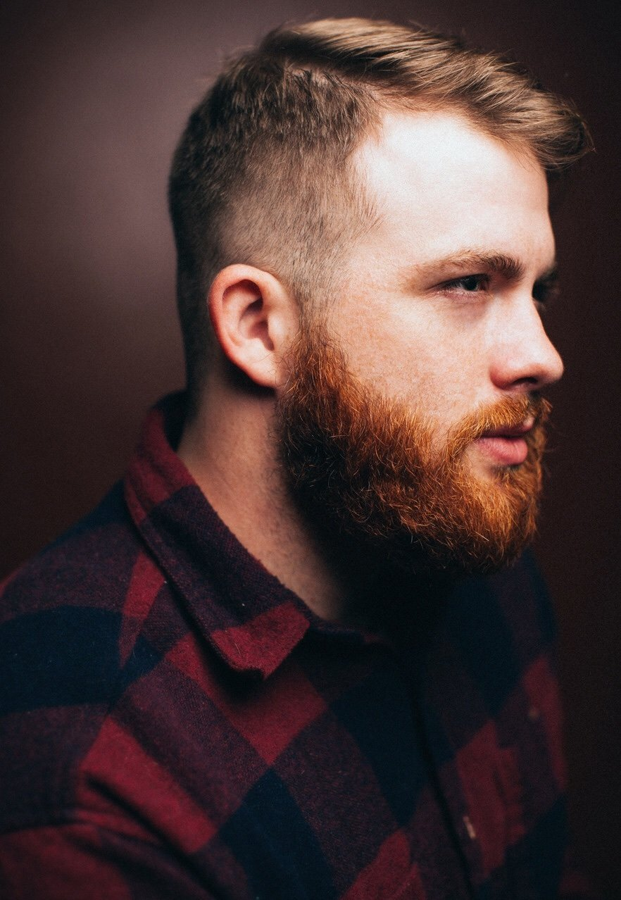 Ginger Beard With Thin Mustache