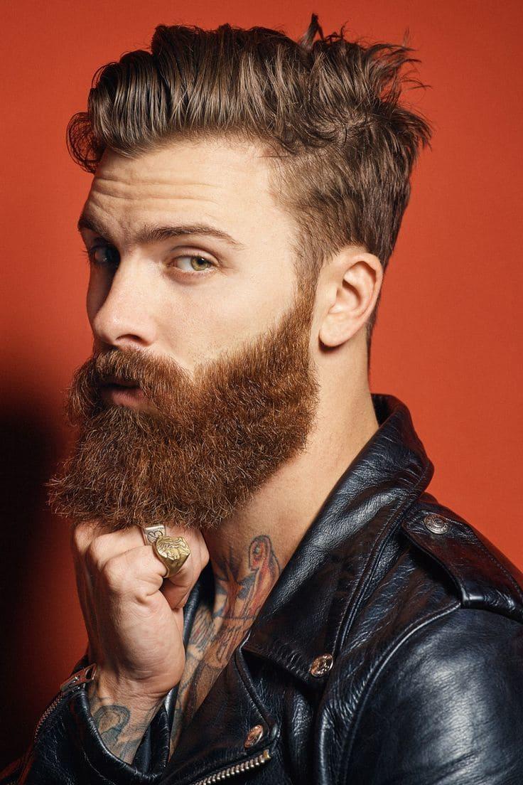 Natural Ginger Beard Style For Men