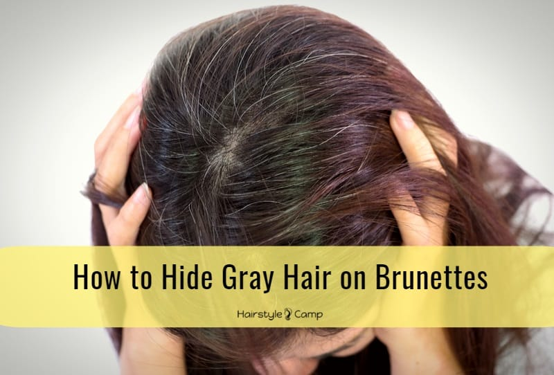 How To Hide Gray Hair On Brunettes Hairstylecamp