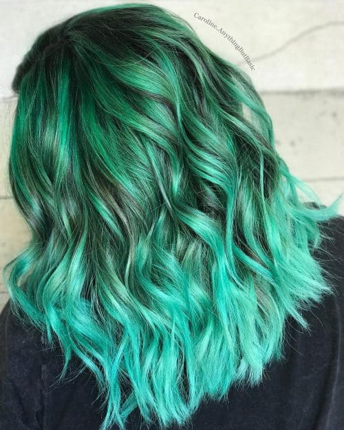 15 Green Ombre Hairstyles That Ll Convince You To Go Green