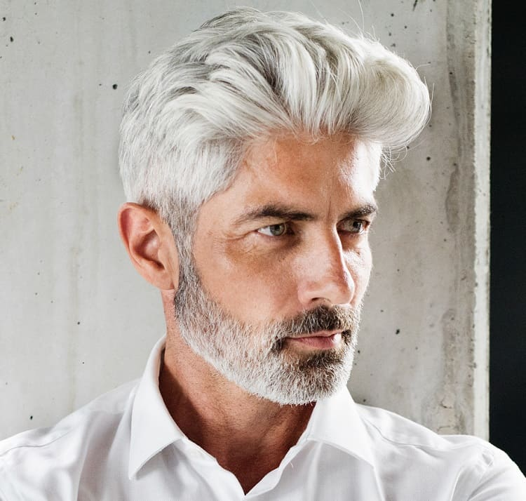 grey hairstyle for men