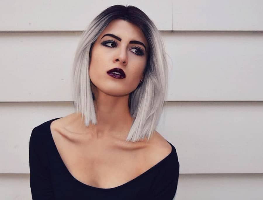 7 Minimalist Short Grey Ombre Hairstyles For Women [2019]