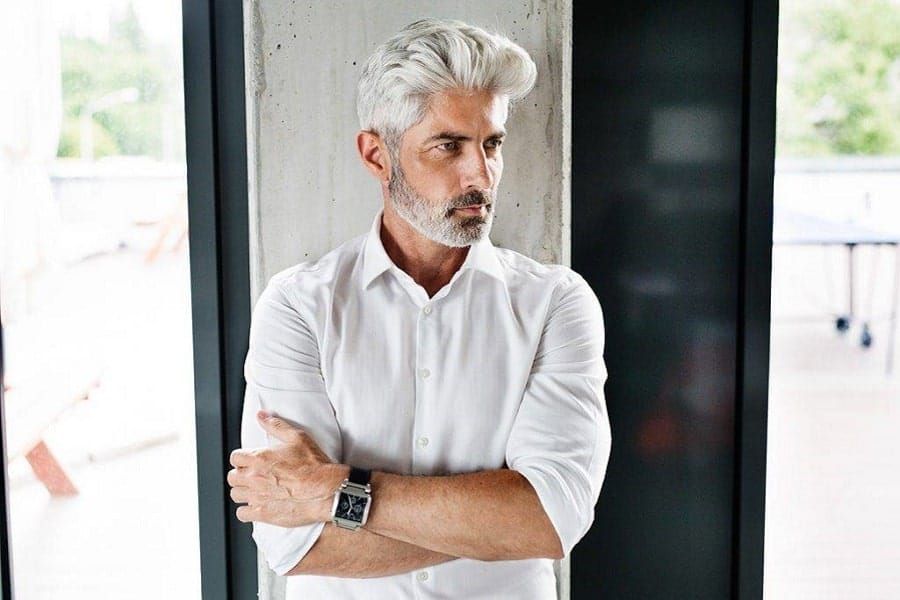 20 Hairstyles for Grey Hair Over 50 (Men\'s 2020 Hair Trend)