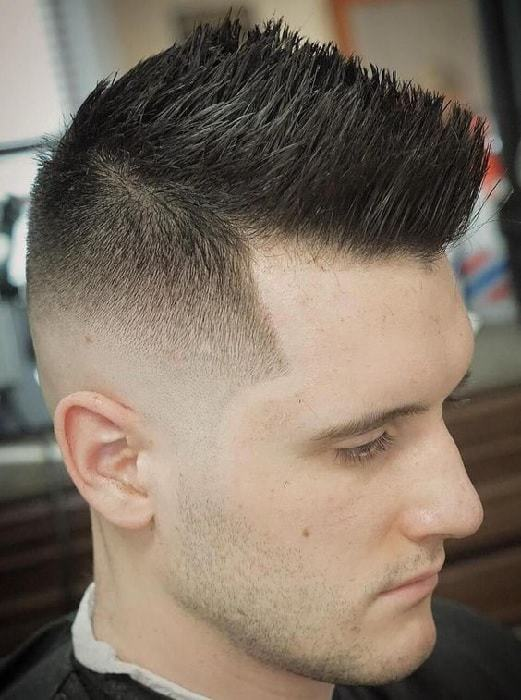spiky hairstyle for men with long face