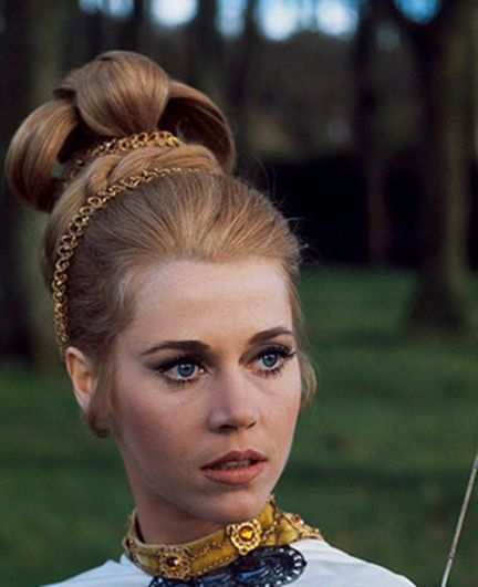 Jane Fonda's Regal 1960's Pin Up Hairdo