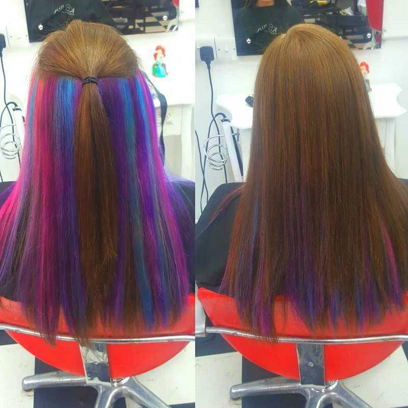 22 Spellbinding Hidden Hair Color Ideas For Women 2021