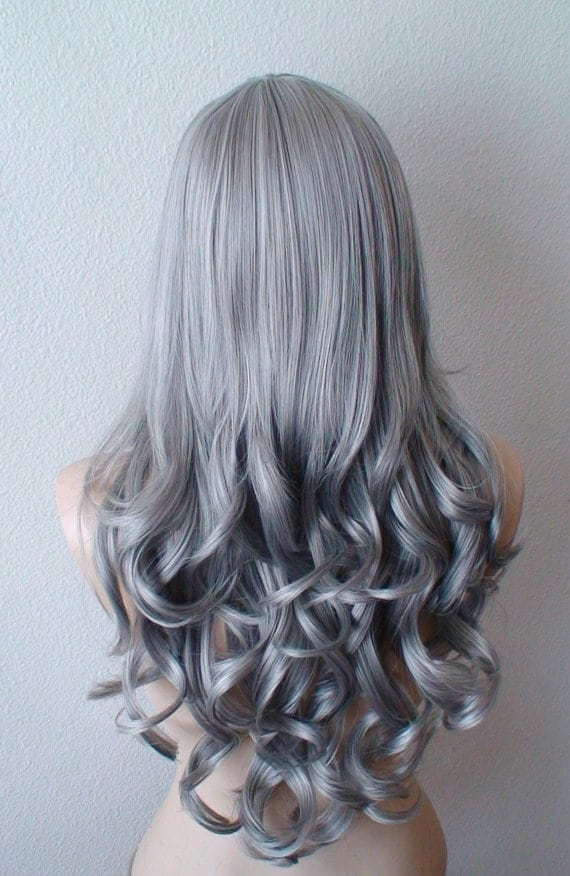 Short blue ombre hair
