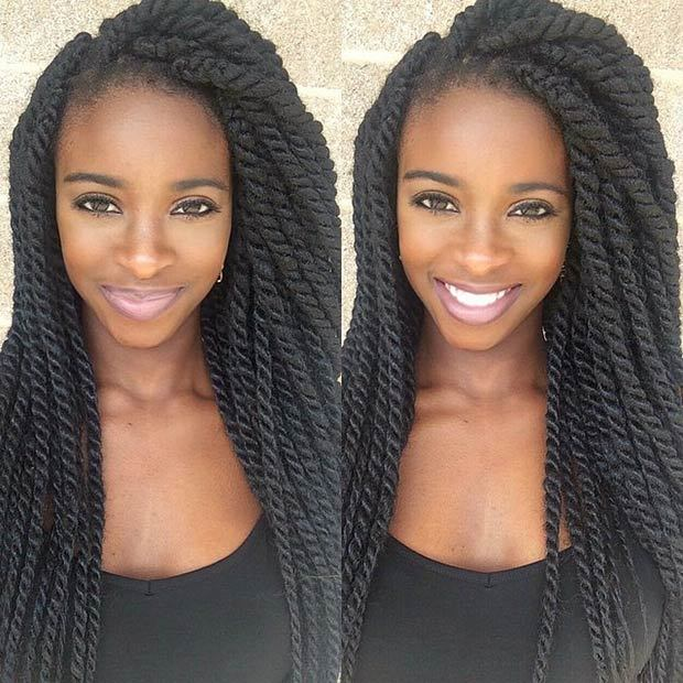 5 Long Beautiful Kinky Twists To Give A Try Hairstylecamp