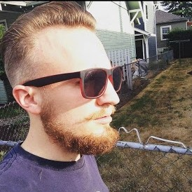 Chin Curly Beard Cut