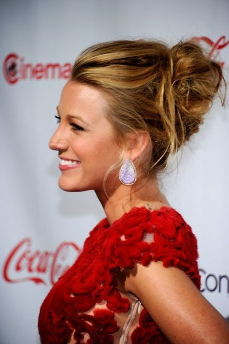 Blake Lively Messy Updo short hairstyle