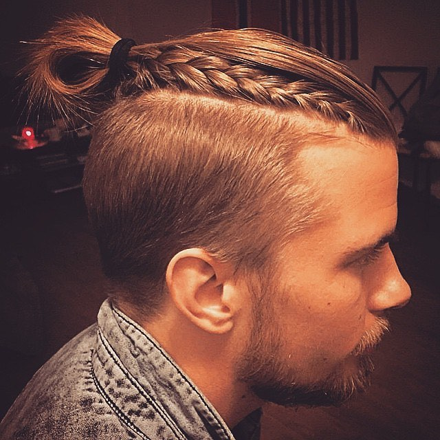 side braid top knots