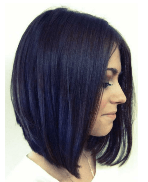 long bob with inverted side bangs