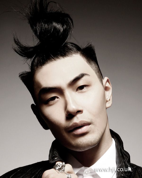 creative up top knot for men