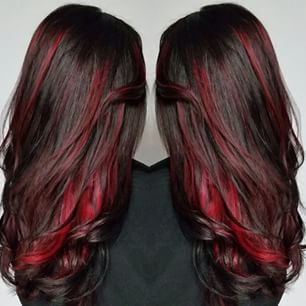 40 Sumptuous Peekaboo Hair Color Ideas Hairstylecamp