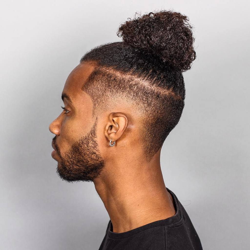faded top knot