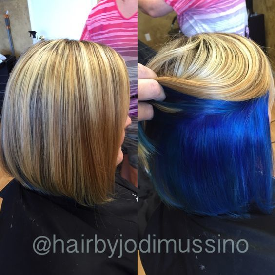 15 Sumptuous Peekaboo Hair Color Ideas Hairstylecamp