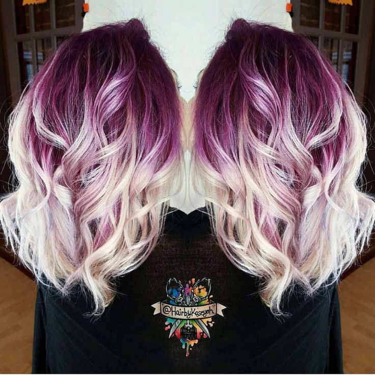 Violet and Blond Hair Melt