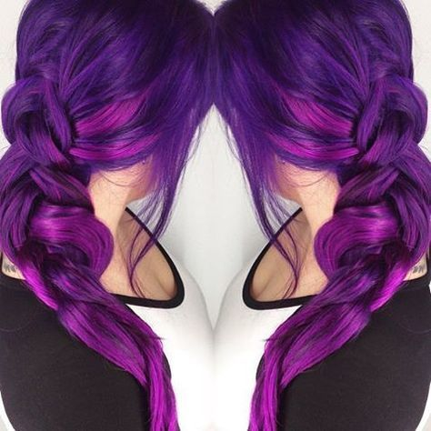 S Favorite Ombre Magenta Hair Color Mixing Purple