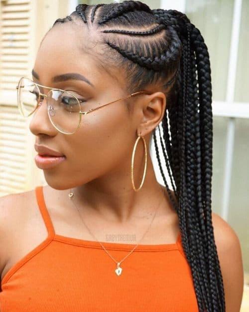 kenyan braided ponytail