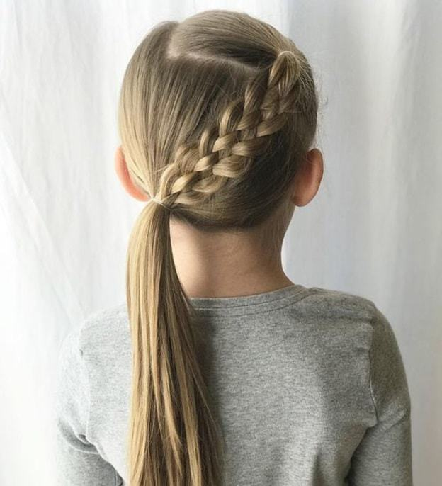 7 Cutest Braided Ponytail Hairstyles for Kids [2019 Update]