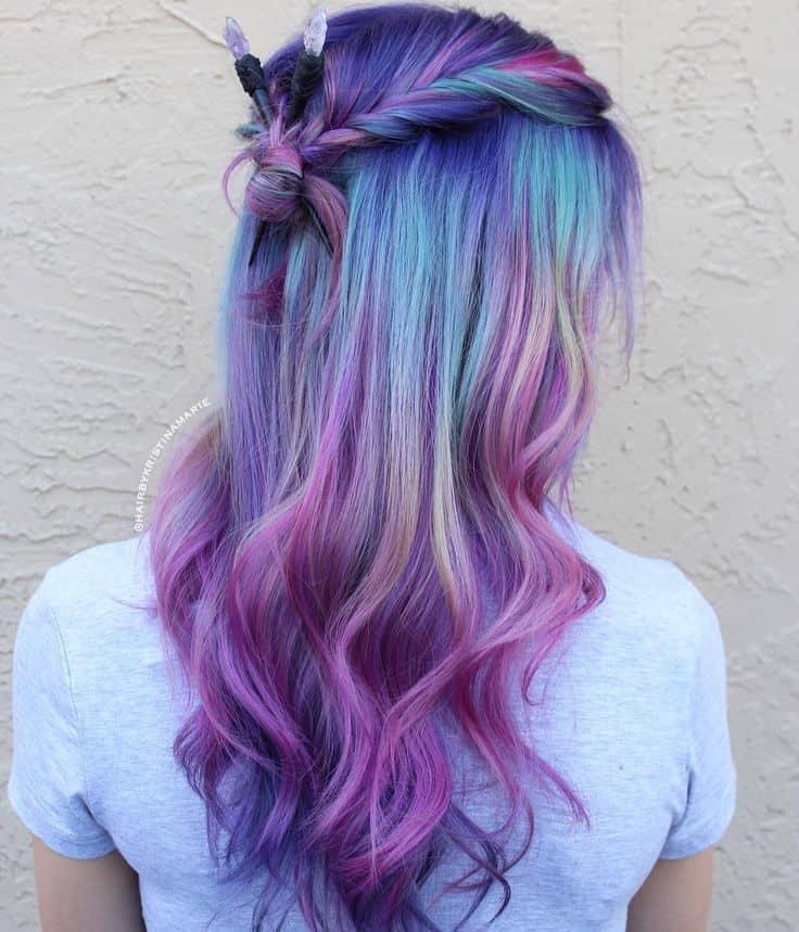 Lavender Purple Multi Colored Hair