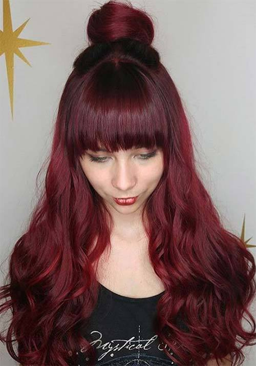 Light Dark Auburn Hair Colors