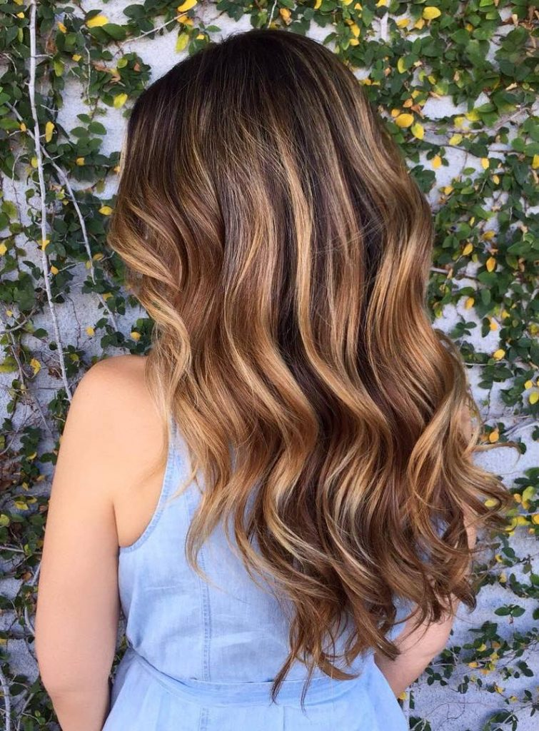 Highlighted waves light brown highlights