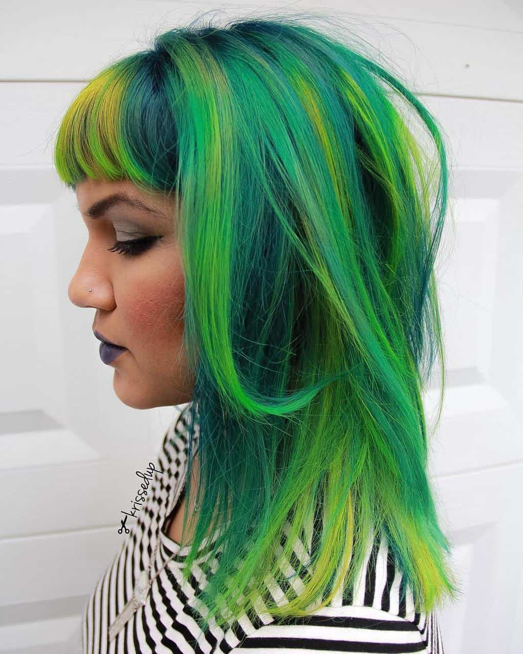 8 Bold And Vibrant Lime Green Hair Colors For Summer Affairs