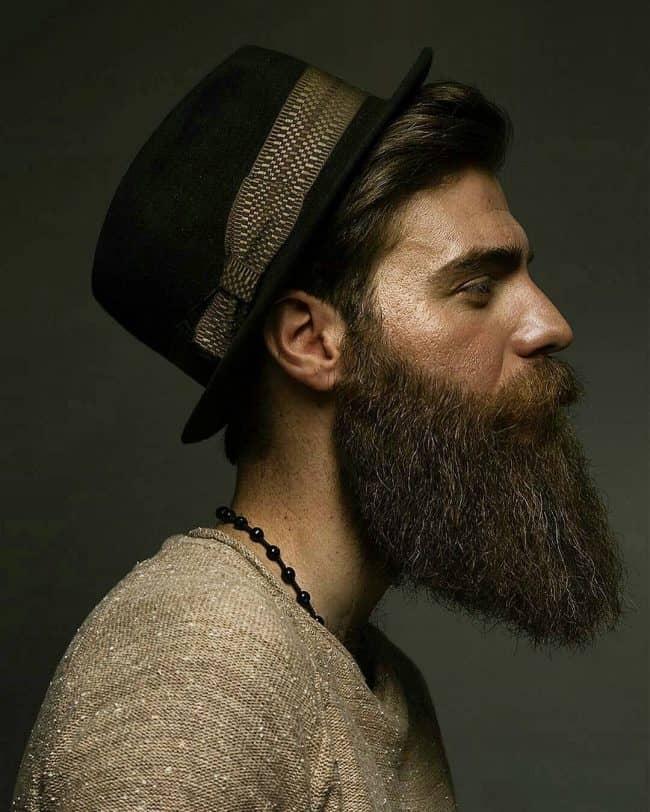long line beard style for men