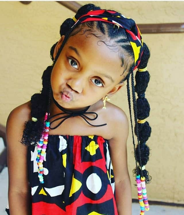 30 Attractive Little Girl Hairstyles With Beads Hairstylecamp