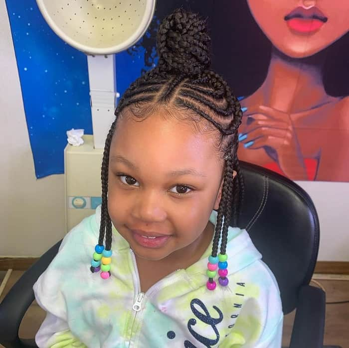 20 Elegant Little Girl Braids With Beads Hairstylecamp