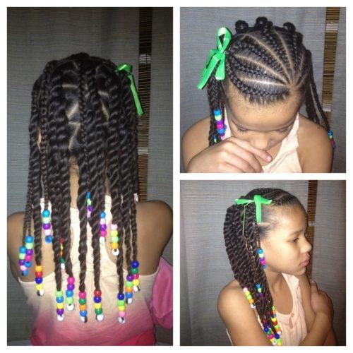 Caramel Highlights hair braids looks