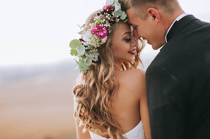 long beautiful wedding hairstyle