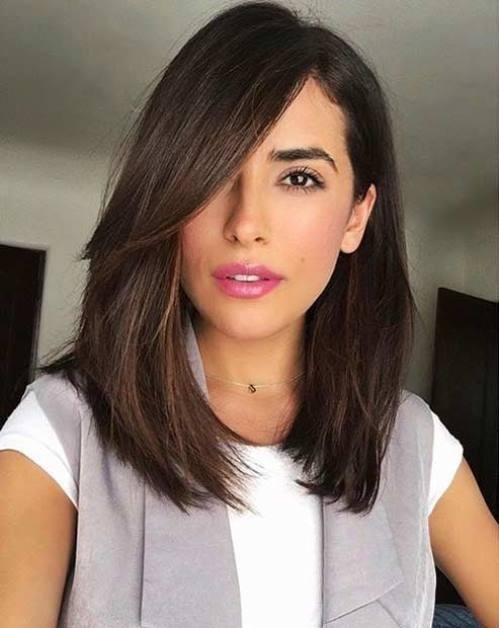 6 incredible long bobs with side bangs to look super cute the classic long hair bob with side bangs look urmus Images