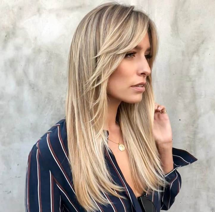 Top 17 Long Straight Hairstyles With Bangs Trending For 2021