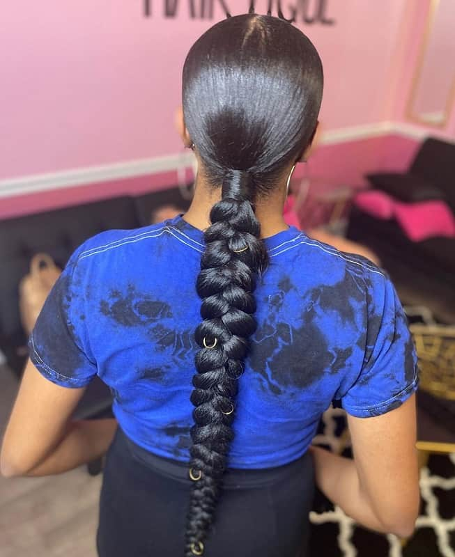 15 Mesmerizing Ponytail Braids For Black Hair Hairstylecamp