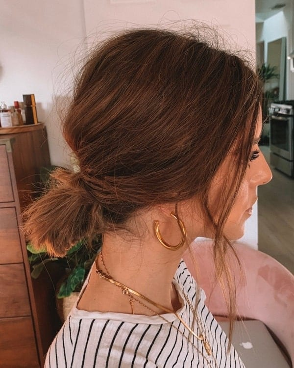 20 Hottest Low Messy Bun Hairstyles For 2020