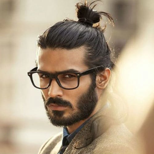 cool man bun hairstyle