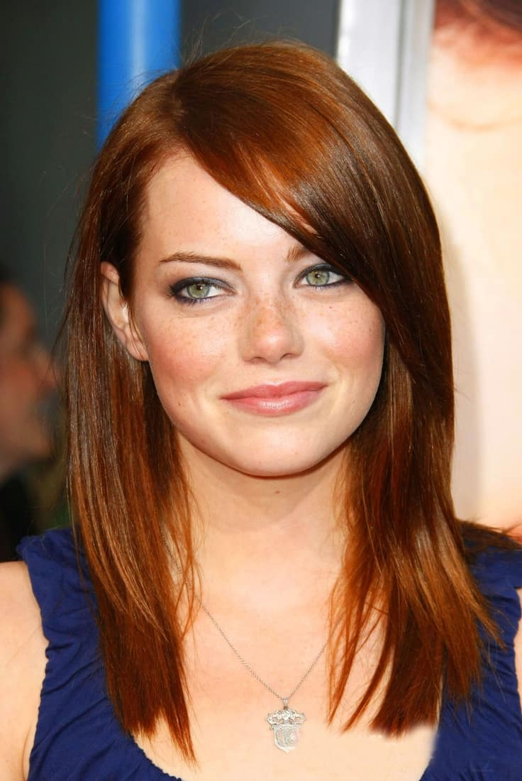 Medium Length Auburn Hair Color