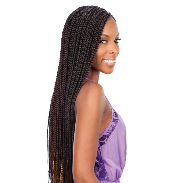 weave box braids hair
