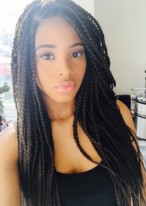 black braids for cute young girl