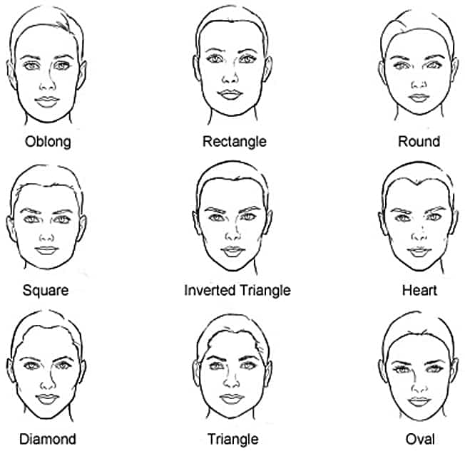 men's different face shapes