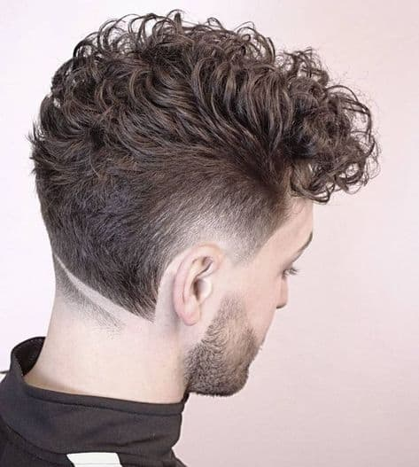 inverted wave hair design for men