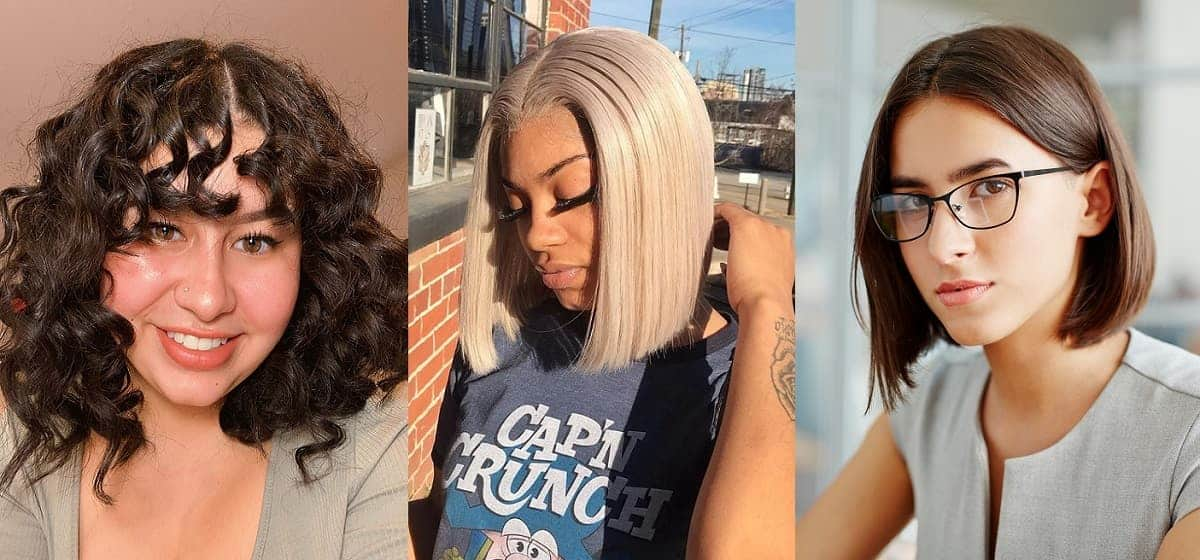 middle parted bob haircuts