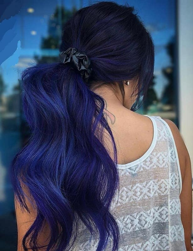 15 Statuesque Navy Blue Hair Color Ideas Hairstylecamp