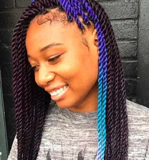 Marley Twists hairstyle with attachment