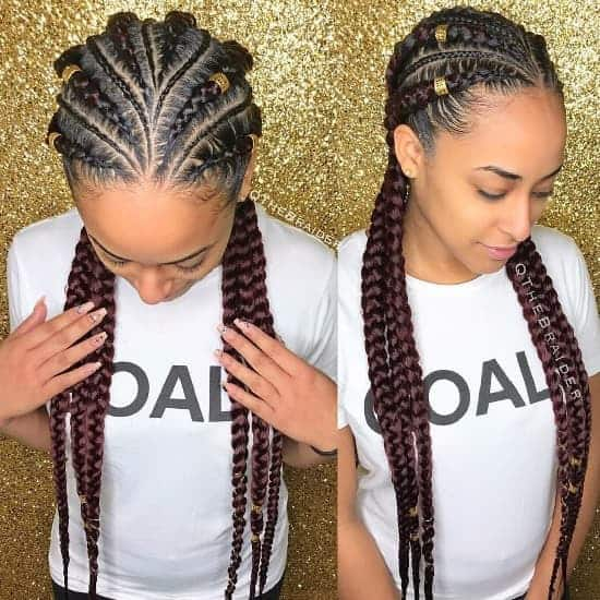 feed in braids hairstyle for nigerian women